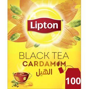 Lipton Flavoured Black Tea Cardamom, 100Teabags 100Teabags