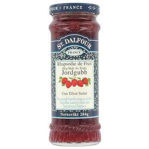 St. Dalfour Strawberry Jam Glass Jar 284gm