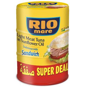 Rio Mare Light Tuna Sandwich Sunflower 3x160gm
