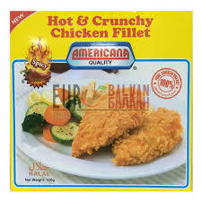 Americana Hot & Crunchy Chicken Fillet 420g