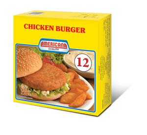Americana Chicken Burger Unbreaded 672g