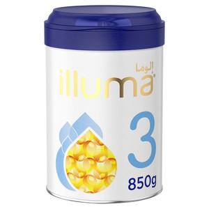 Wyeth Nutrition Illuma HMO Stage 3 Super Premium Milk Powder Toddlers Tin For 1-3 Years 850g