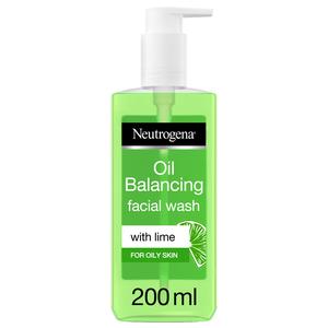 Neutrogena Oil Balancing Facial Wash Lime For Oily Skin 200ml