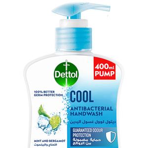 Dettol Cool Handwash Liquid Soap Pump Mint & Bergamot Fragrance 400ml