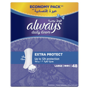 Always Daily Liners Extra Protect Large 48pcs