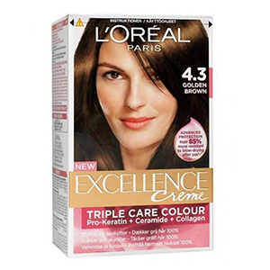 Loreal Excellence 4.3 Golden Brown 1
