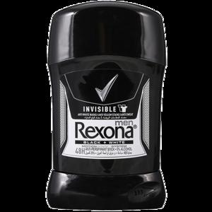 Rexona Men Antiperspirant Stick Invisible Black & White 40g