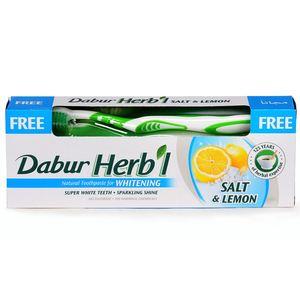 Dabur Whitening Herbal Toothpaste With Toothbrush 150g