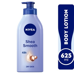 Nivea Shea Smooth Body Lotion With Shea Butter Dry Skin 625ml
