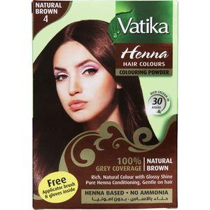 Vatika Henna Hair Colour Natural Brown 10g