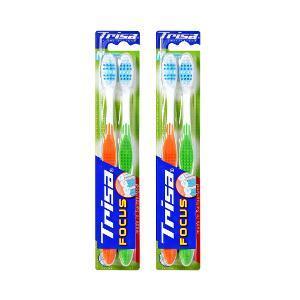 Trisa Focus Pro Soft Clean Toothbrush 2+2