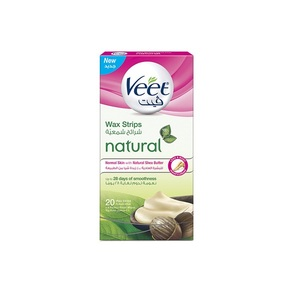 Veet Wax Strips for Normal Skin with Natural Shea Butter 20pcs