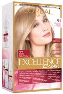 L'Oreal Excellence Creme   9.1 Very Light Ash Blonde 1pc