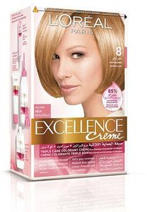 L'Oreal Paris Excellence Creme 8 Light Blonde Haircolor 1pc