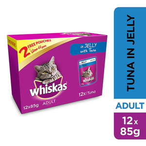 Whiskas In Jelly with Tuna Wet Cat Food Pouch Multipack 12x85g