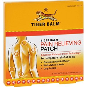 Tiger Balm Plaster Pain Relief Warm Sheets 7x10cm