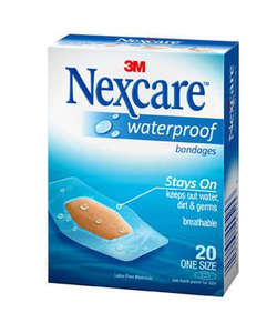 Nexcare Water Proof Clear Bandages 20s
