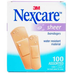 Nexcare Sheer Bandages Assorted 100s