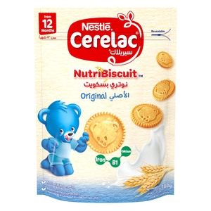 Nestle Cerelac Nutribiscuit Healthy Snacks Original Pouch From 12 Months 180g