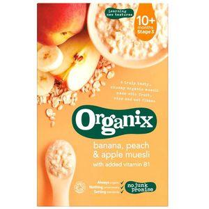 Organix Banana Peach & Apple Muesli Stage 3 (10+ Months) Junk Free 200g