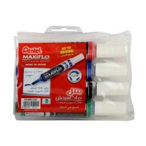 Pentel Maxiflo Whiteboard Marker Chisel 4pcs