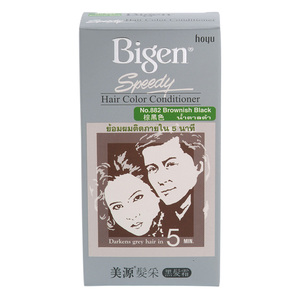 Bigen Speedy Hair Color Conditioner Brownish Black 80g