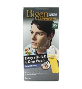 Bigen Men One Push Black Brown Hair Color Cream 80g