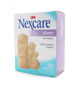 Nexcare Sheer Bandages Assorted 50s