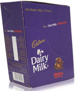 Cadbury Dairy Milk Fruit & Nut 12x100g