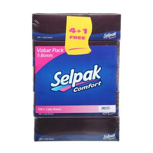 Selpak Facial Tissue 5x150s
