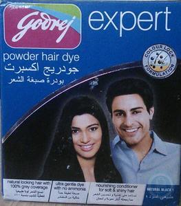 Godrej Expert Powder Hair Dye Natural Black 1 10g