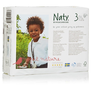 Naty By Nature Babycare Eco Jumbo Pack Diapers Size 3 16 28 Lbs 31pc