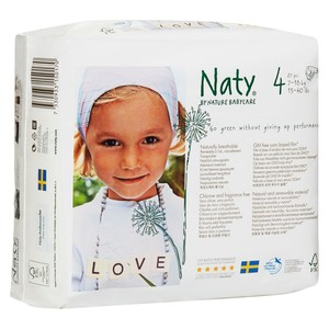 Naty By Nature Babycare Diapers For Sensitive Skin Size 4 27pc