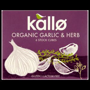 Kallo Organic Garlic & Herbs Cubes 66g