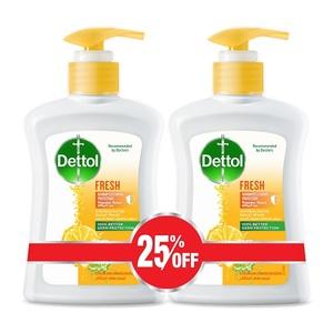 Dettol Fresh Handwash Liquid Soap Pump Citrus & Orange Blossom Fragrance 2x200ml