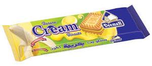 Deemah Banana Cream Biscuit 75 gm