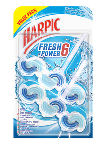 Harpic Fresh Power 6 Marine Splash Value Pack 2x39g