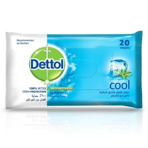 Dettol Cool Antibacterial Skin Wipes 20s