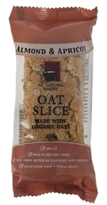 Almond & Apricot Oat Slice All Natural Bakery  100g