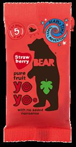 Bear Strawberry Real Fruit Yoyo 20g