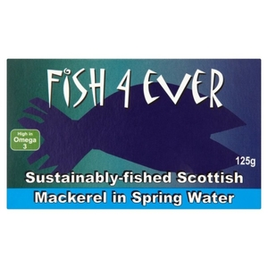Mackerel In Spring Water Fish4 Ever 125g