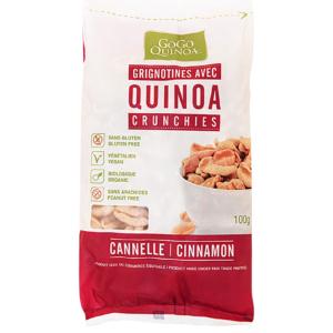 Quinoa Crunchies Cinnamon Gogo Organic  100g