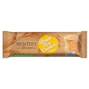 Hunter's Gourmet Brown Rice Crackers 100g