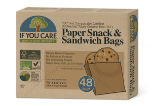 Paper Snack & Sandwich Bags  If You Care 48pcs