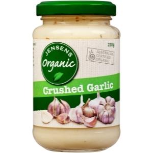 Crushed Garlic  Jensens Organic 220g