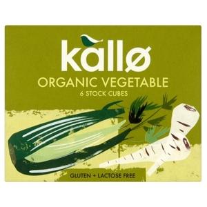 Kallo Organic Vegetable Stock Cubes 6x11g