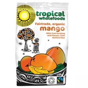 Tropical Whoefoods Organic Sun Dried Mango 100g