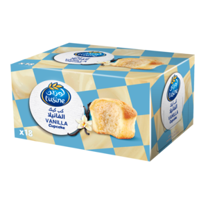 Lusine Cup Cake Vanilla 18x30g