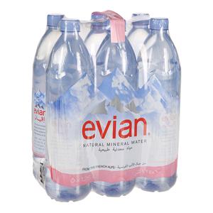 Evian Prestige Mineral Water 6x1.25L
