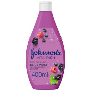 Johnson's Body Wash Vita-Rich Replenishing Raspberry Extract 400ml